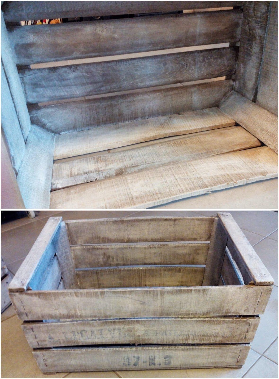 caisse en bois diy effet blanchi meuble tv bullelodie diy d co homestaging peinture. Black Bedroom Furniture Sets. Home Design Ideas