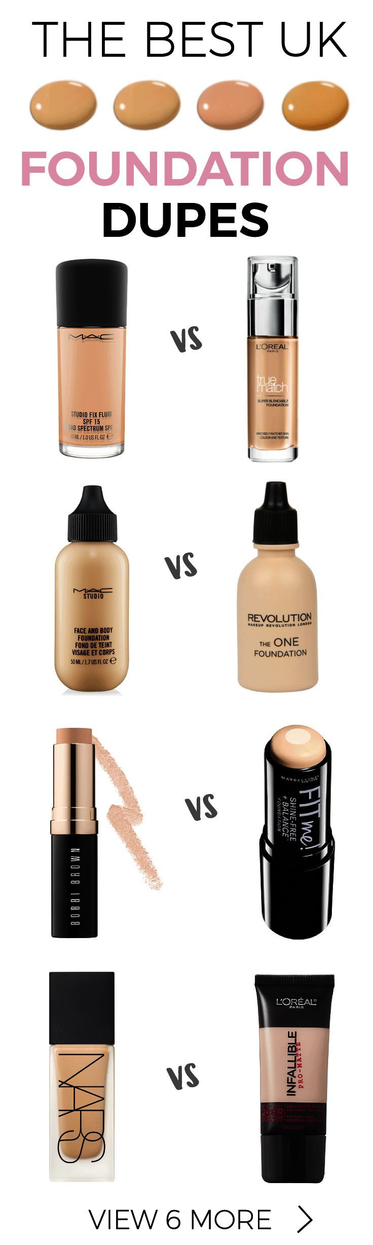 Save yourself 's with these awesome Foundation Dupes UK