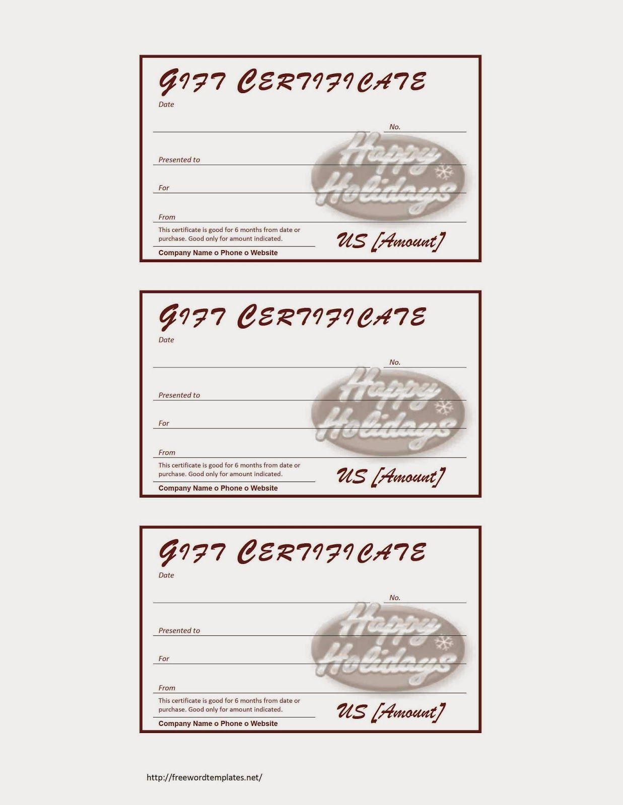 Christmas Certificates Templates For Word Holiday Gift Certificate  Books Worth Reading  Pinterest