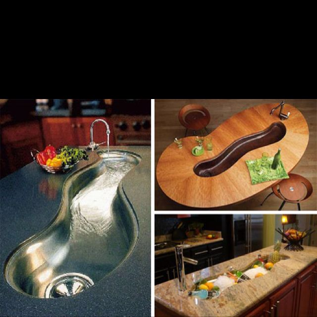Unique kitchen sink designs. The options are limitless! You don\'t ...
