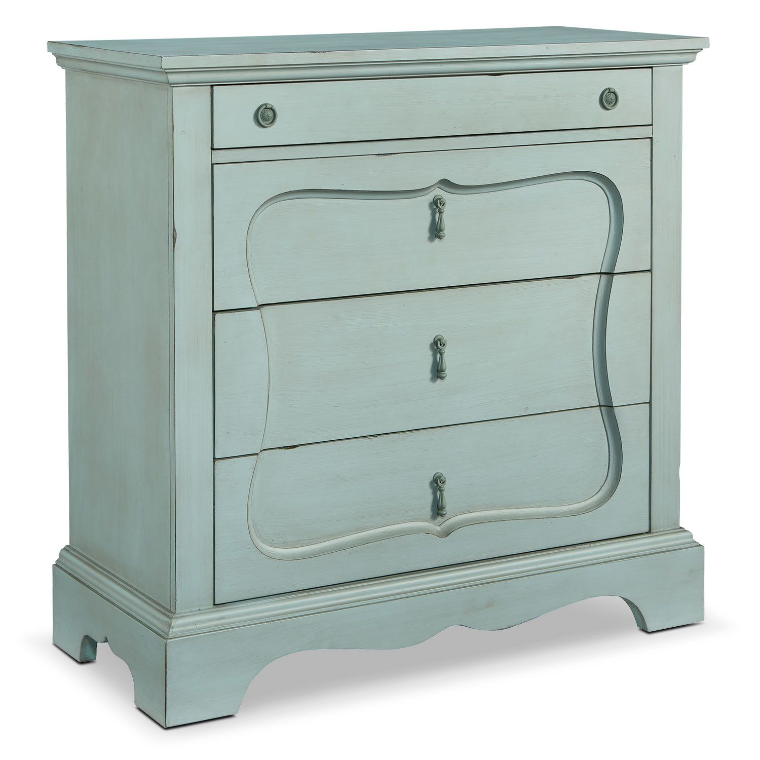 Bedroom Furniture French Inspired Silhouette 4 Drawer Chest