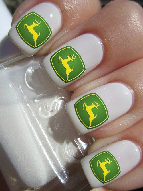 John Deere nail decals by PineGalaxy on Etsy, $4.50 | My Style ...