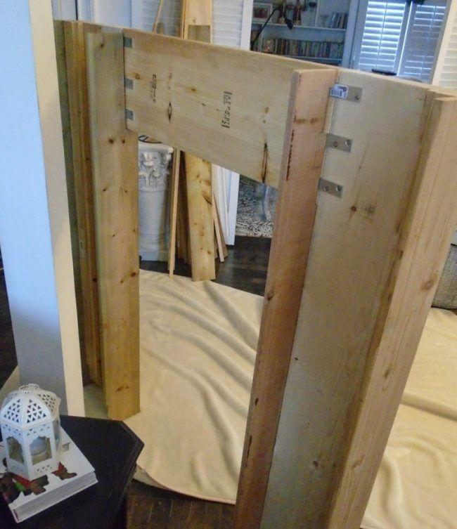 Deko Kamin Selbst Bauen kaminumrandung selber bauen dekokamin anleitung konstruktion holz