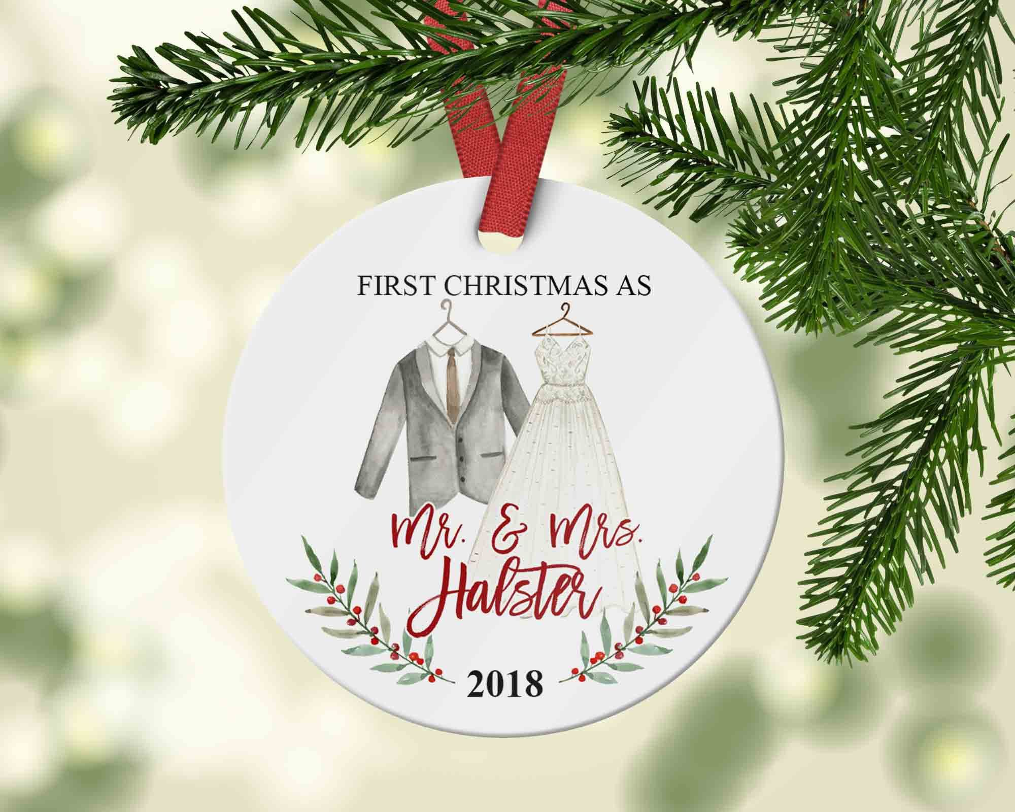 Customized Bride and Groom Mr. and Mrs. Ornament 2018, Gift for ...