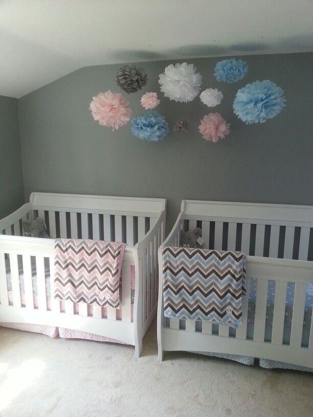 Bedroom Ideas For Baby Boy And Girl Sharing: Boy Girl Twin Nursery