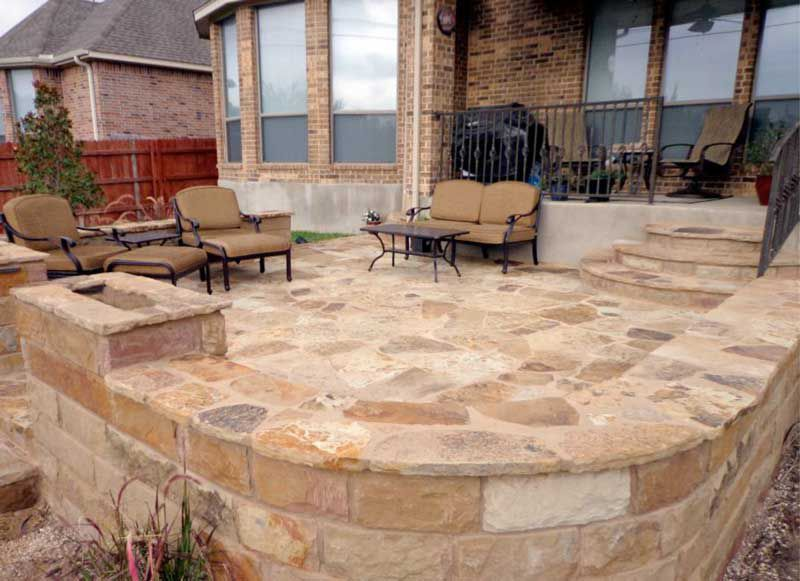 20+ best stone patio ideas for your backyard | a well, pictures of ... - Flagstone Patio Ideas