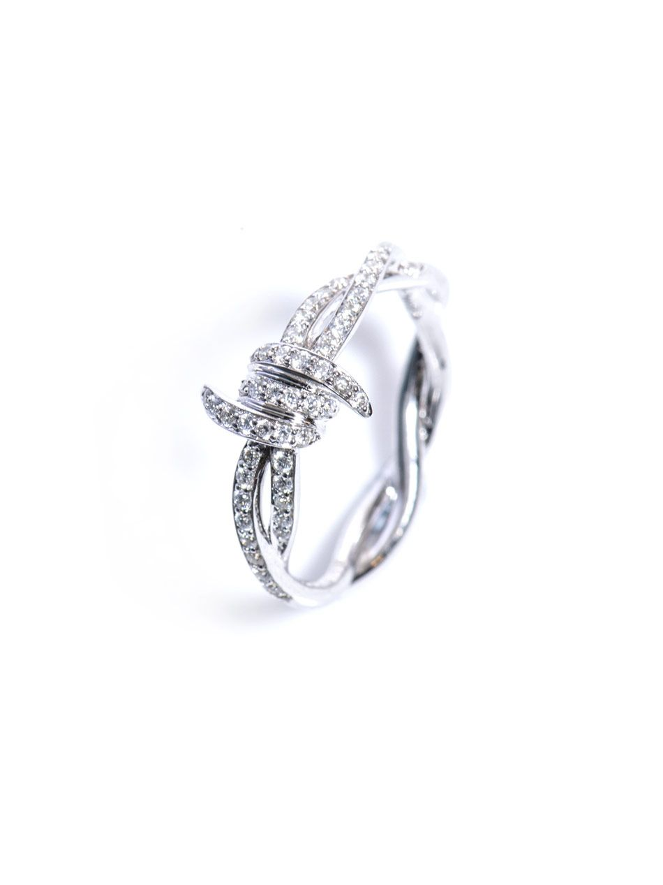f6d1a0070 Stephen webster Diamond and White Gold Barbed Wire Ring in White   Lyst