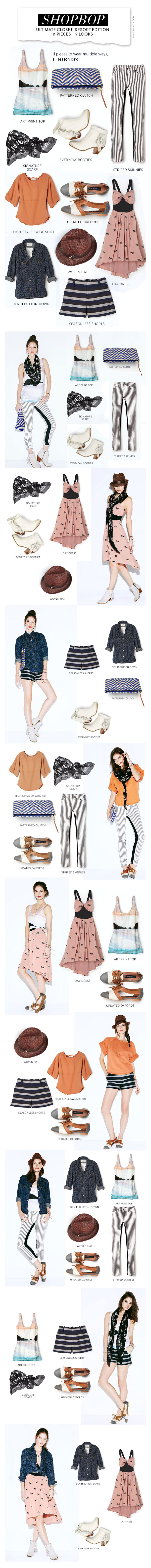 Shopbop Ultimate Closet Resort Edition 11 Pieces - 9 Looks