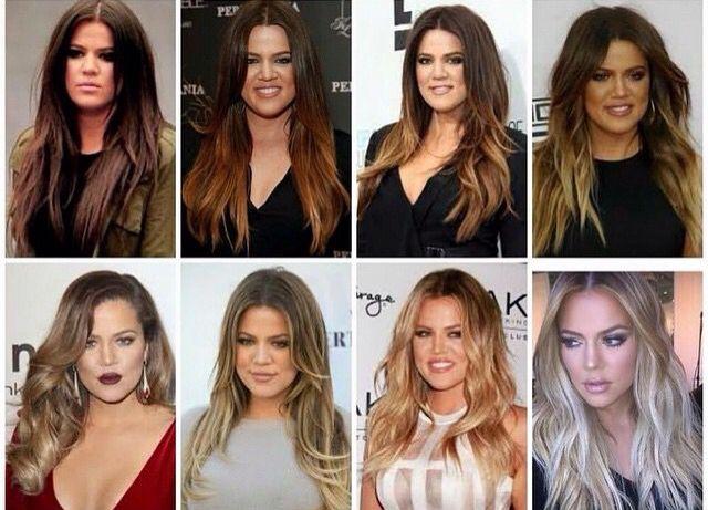 Khloe K hair evolution ❤️