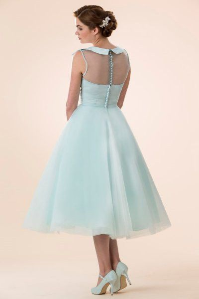 tb-m580 Tea length retro Fifties inspired bridesmaid / prom dress ...