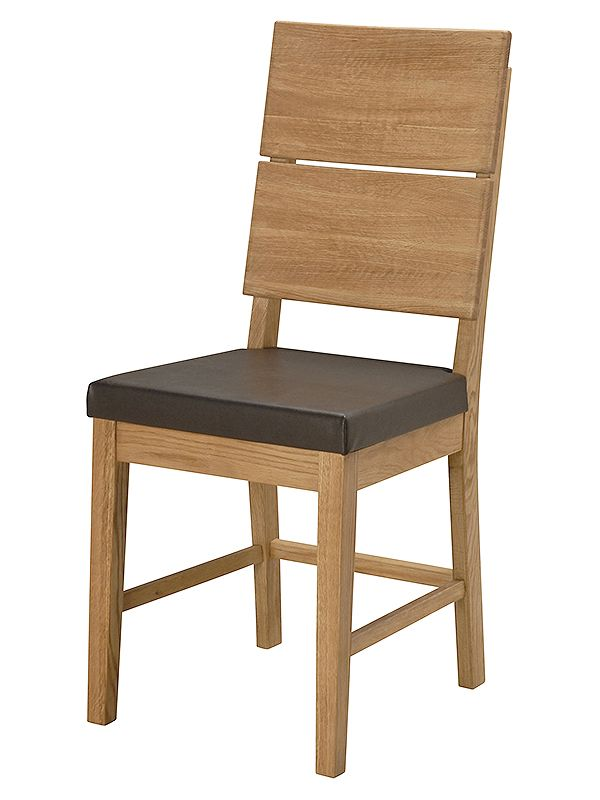 Jídelní židle s koženým sedákem Oslo (SET 2 ks) - 1 Bydlení
