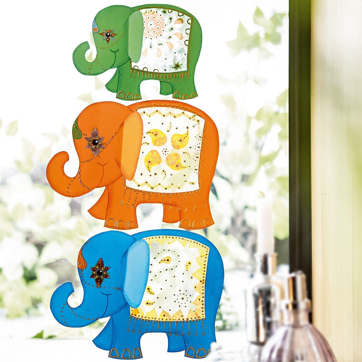 Fensterbilder Elefanten Jako O Bastelset Für 3 Stück Online