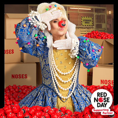 Our Queen of Bingo supporting Red Nose Day | Jackpotjoy