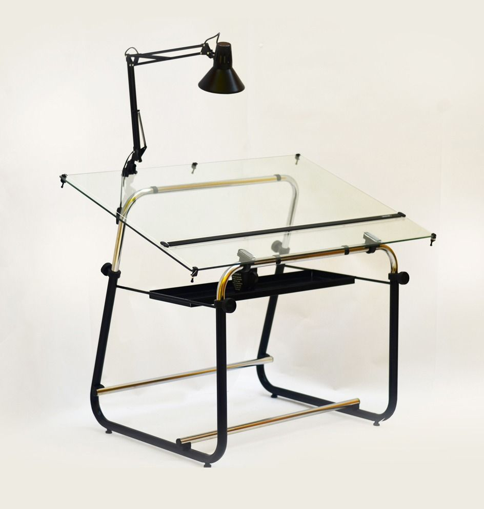 Mesa de dibujo t cnico c tablero de vidrio arquitectura - Mesas de arquitectura ...