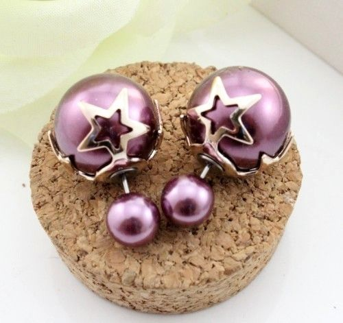 Double Dot Parel Ster Paars bij Trendy Goodies -