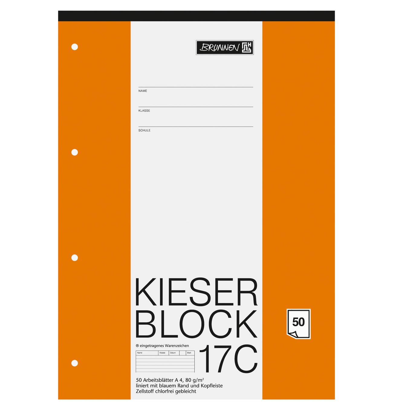 Kieser Block A4 Kieser 07 0017c Liniert Lineatur 21