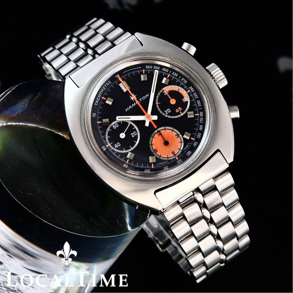 Hamilton d type vintage chronograph watch valjoux cal for Hamilton dive watch