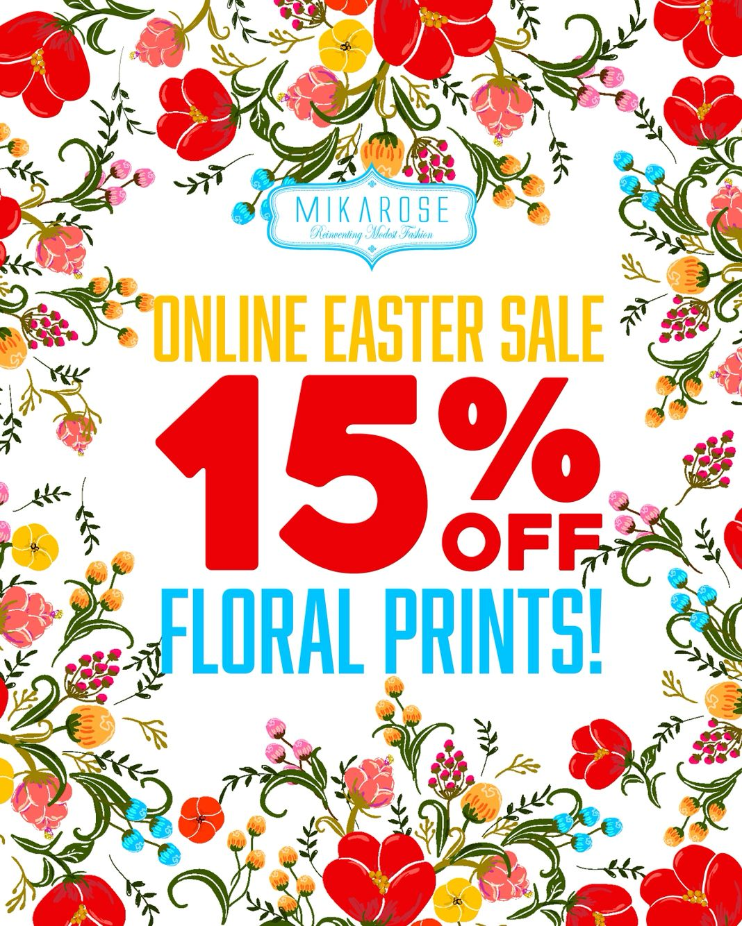 Spring is in the air! Time to order your Easter outfits! Floral prints are 15% off online today and tomorrow. Don't miss out on these cute styles. #florals #easter #spring #fashion #modest #selectstyles