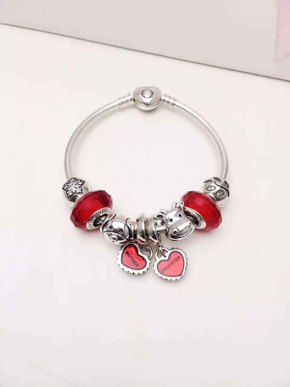 50% OFF!!! $199 Pandora Charm Bracelet Red. Hot Sale!!! SKU ...