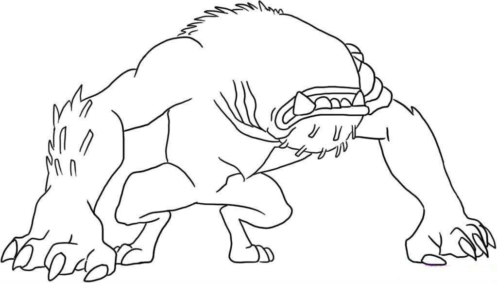 Ben 10 Ultimate Alien Wildmutt Coloring Pages - Worksheet & Coloring ...