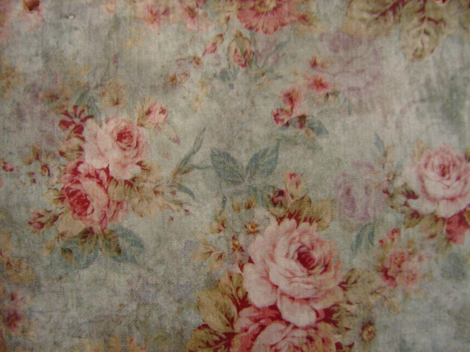 Burlap Rustic Flowers Wallpaper