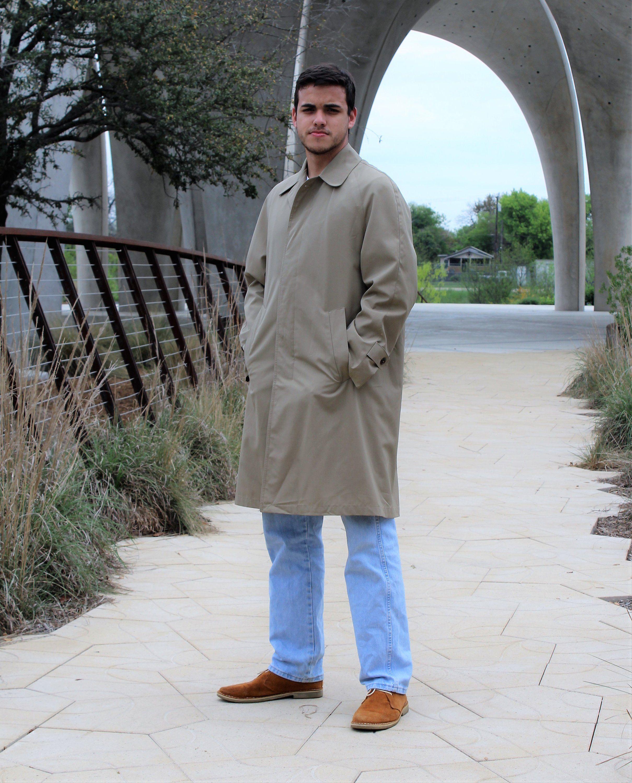 2dbf2d3e6206 Vintage 80s raincoat from Brooks Brothers: Vintage 1980s Brooks Brothers  Raincoat Medium Classic Rain Coat