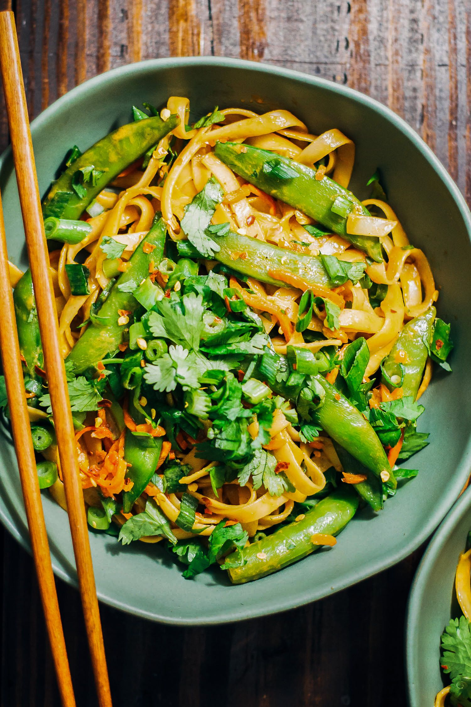 Spicy Vegan Pad Thai #recipeshealthy