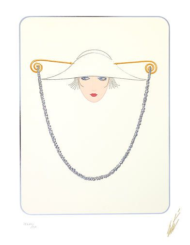 Erté: Hat and Chain