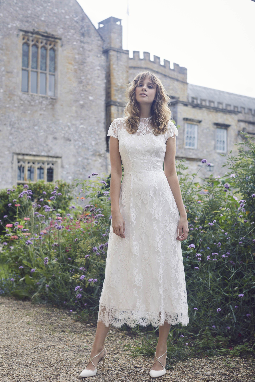 Wedding Dresses For A Registry Ceremony Registry Office Wedding Dress Knee Length Wedding Dress Short Wedding Dress
