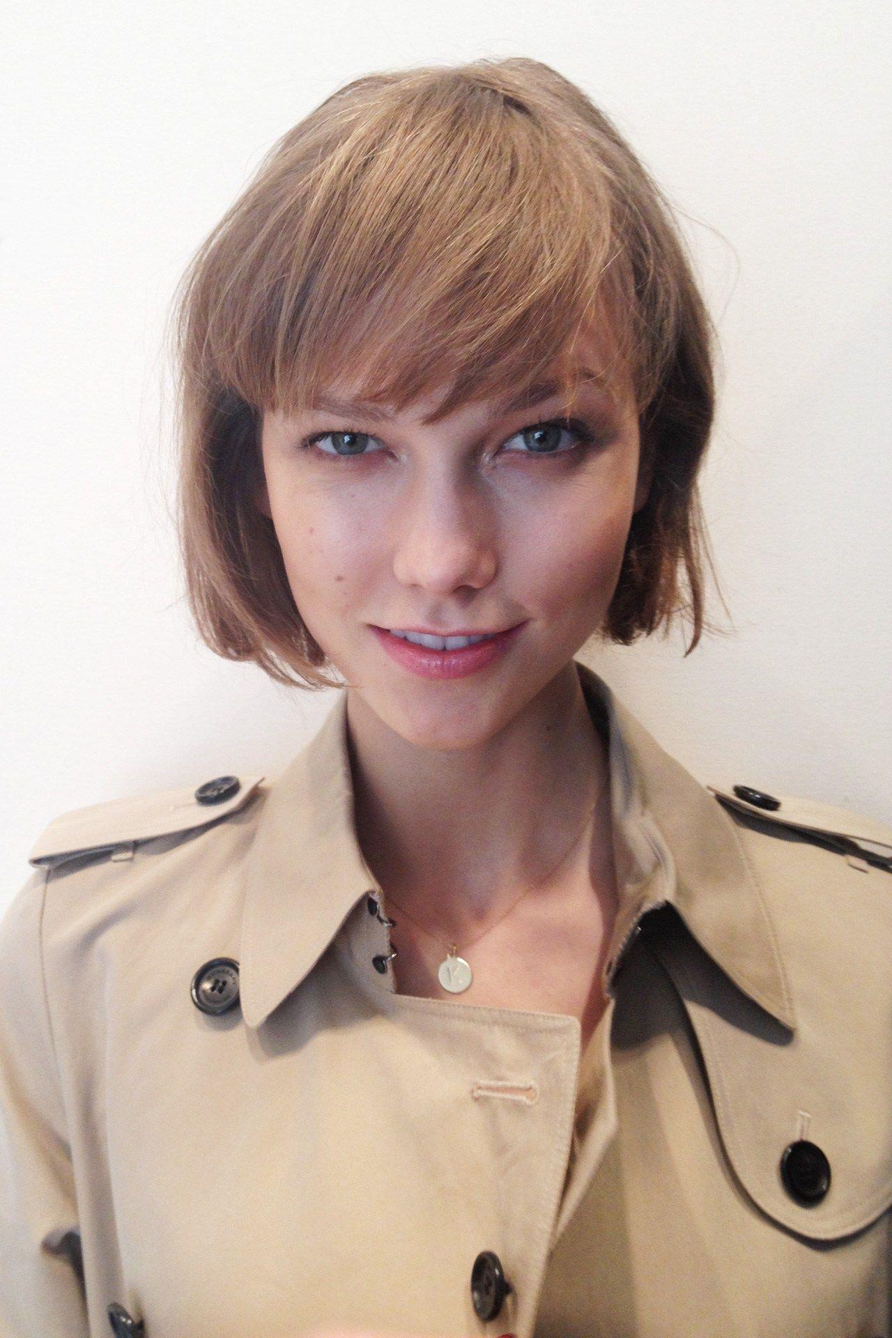 karlie kloss bob hairstyle fade haircut