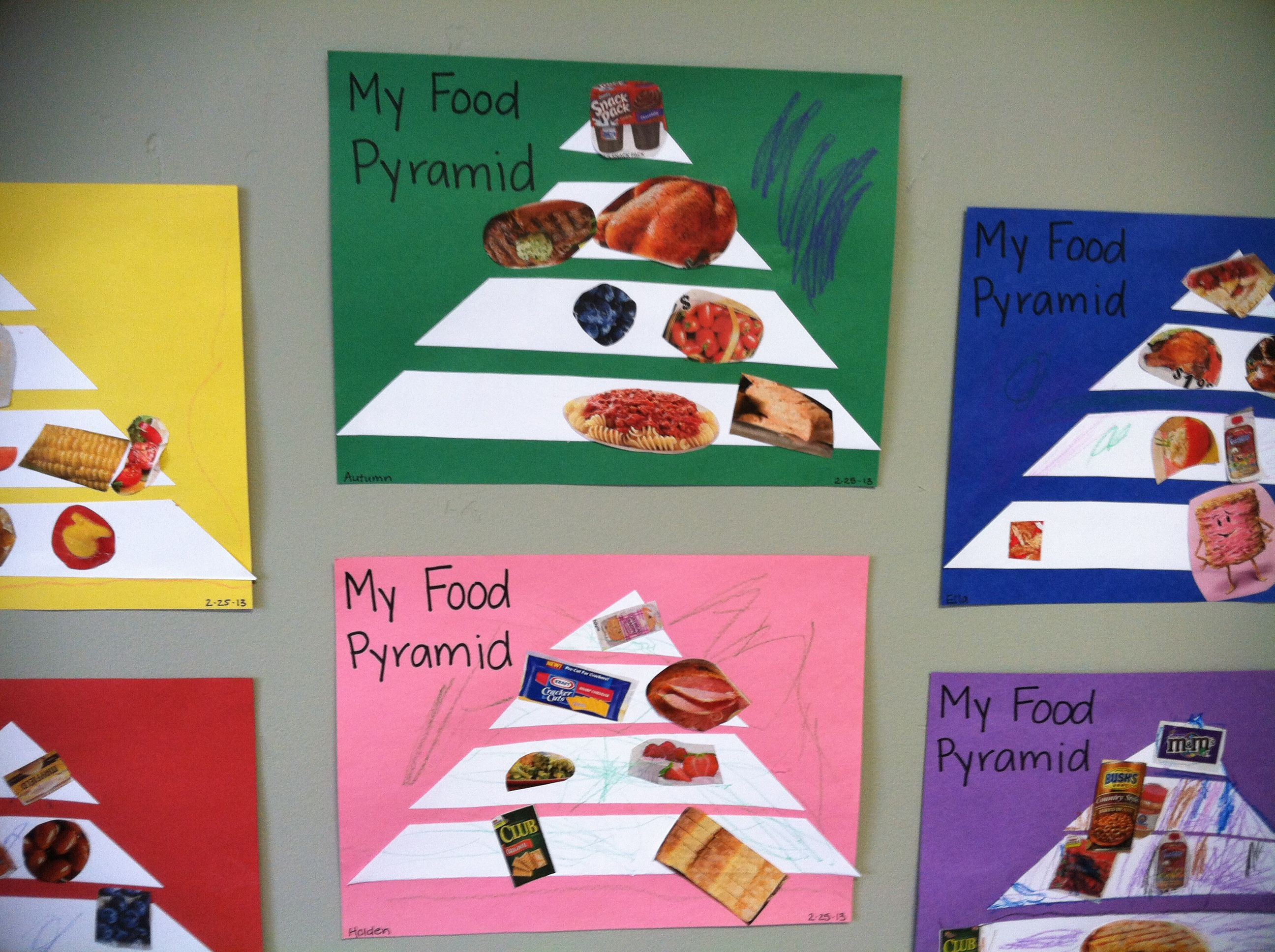 Food pyramids for preschoolers preschool fun pinterest for Food crafts for preschoolers