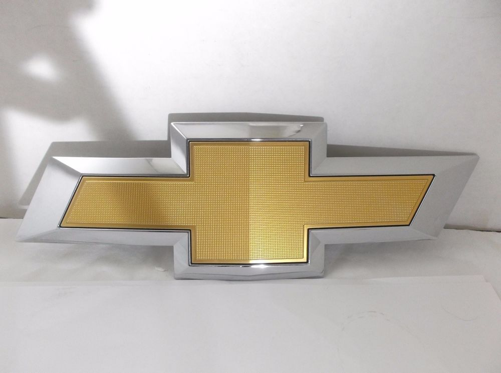 16 17 Chevy Silverado Grille Emblem Grill Oem Gold Bowtie Badge Sign