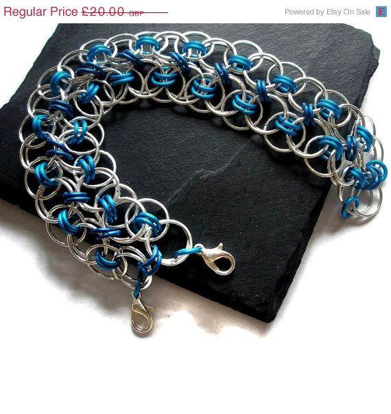 blue n silver bracelet
