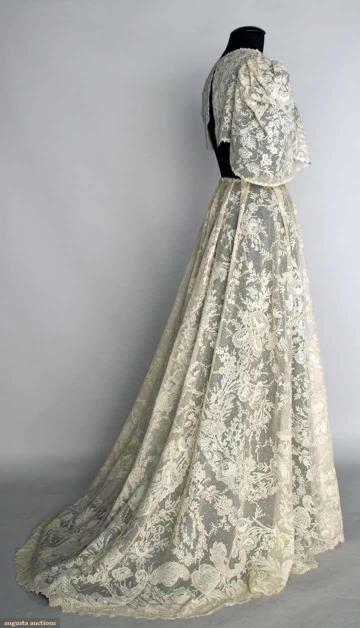 Wedding Dresses  Belgium : Point de gaz lace dress never made ready cream