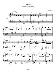 Crazier Taylor Swift Piano Plateau Sheet Music Taylor Swift Crazier Lyrics Crazy Lyrics Learn Piano