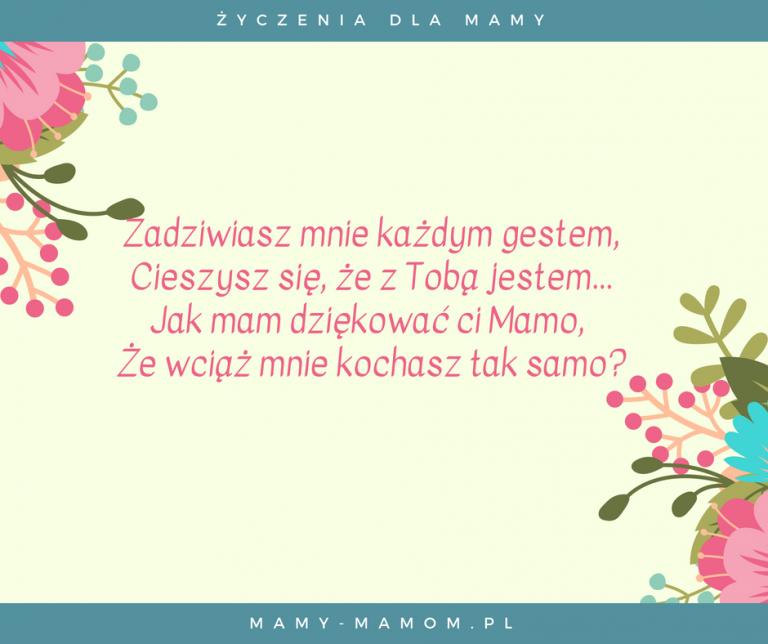 życzenia Dla Mamy Wierszyki Na Dzień Mamy Mamy Mamompl