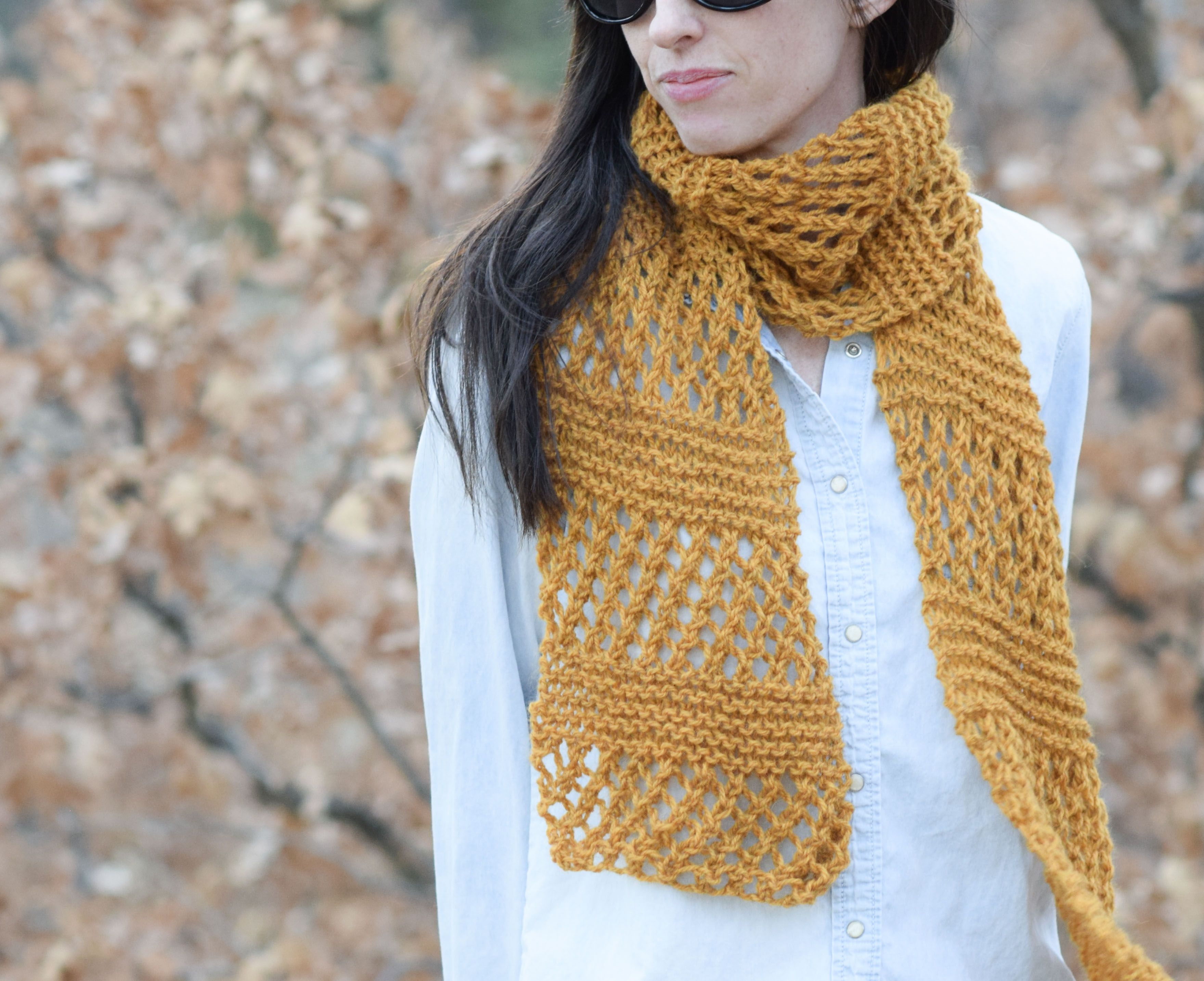 Honeycombs Summer Easy Scarf Knitting Pattern | Easy scarf ...