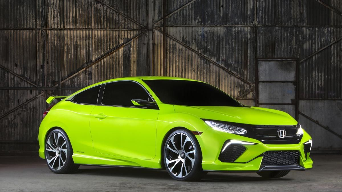 2016 Honda Civic Concept Makes Surprise Debut At New York Auto Show Honda Civic 2016 Honda Civic 2016 Honda Civic Coupe