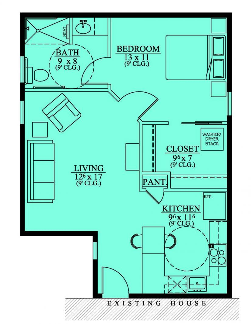 House plans with mother in law suites mother in law for Bungalow house plans with inlaw suite