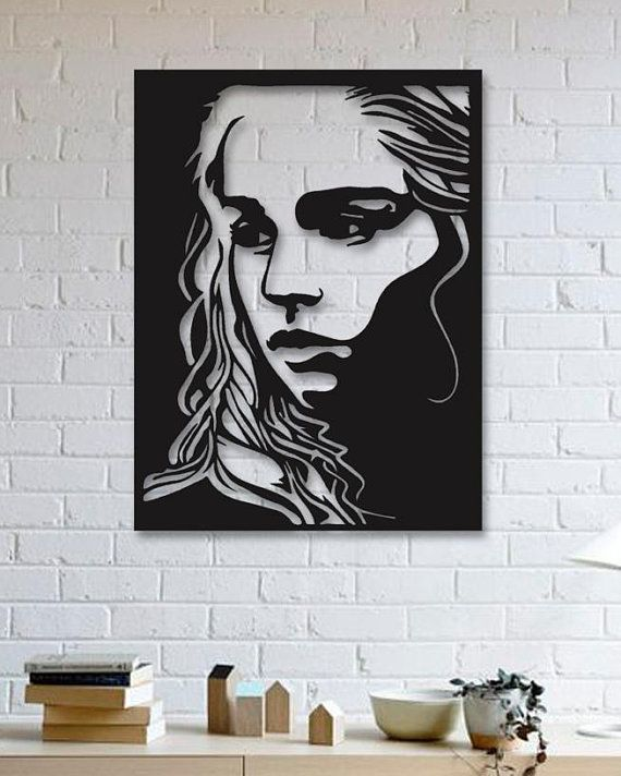 Game Of Thrones Khaleesi Metal Wall Art Wall Decor Metallic Paint
