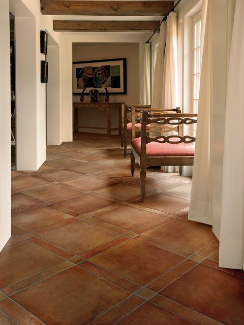 Crossville 39 s tuscan clay av162 rosso 3 x 3 3 x 16 16 x for Tuscan flooring