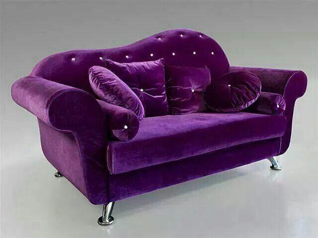 Awe Inspiring Purple Loveseat Purple Home Purple Furniture Purple Bralicious Painted Fabric Chair Ideas Braliciousco