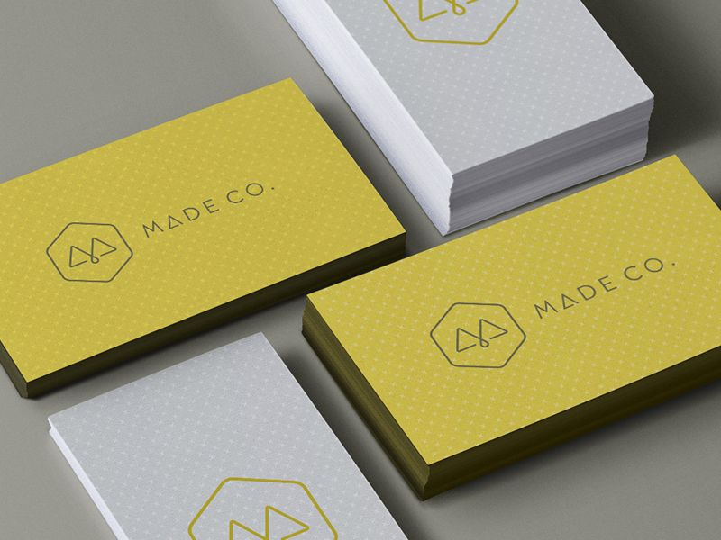Made Co. Card Application | Business cards, Logo branding and Logos