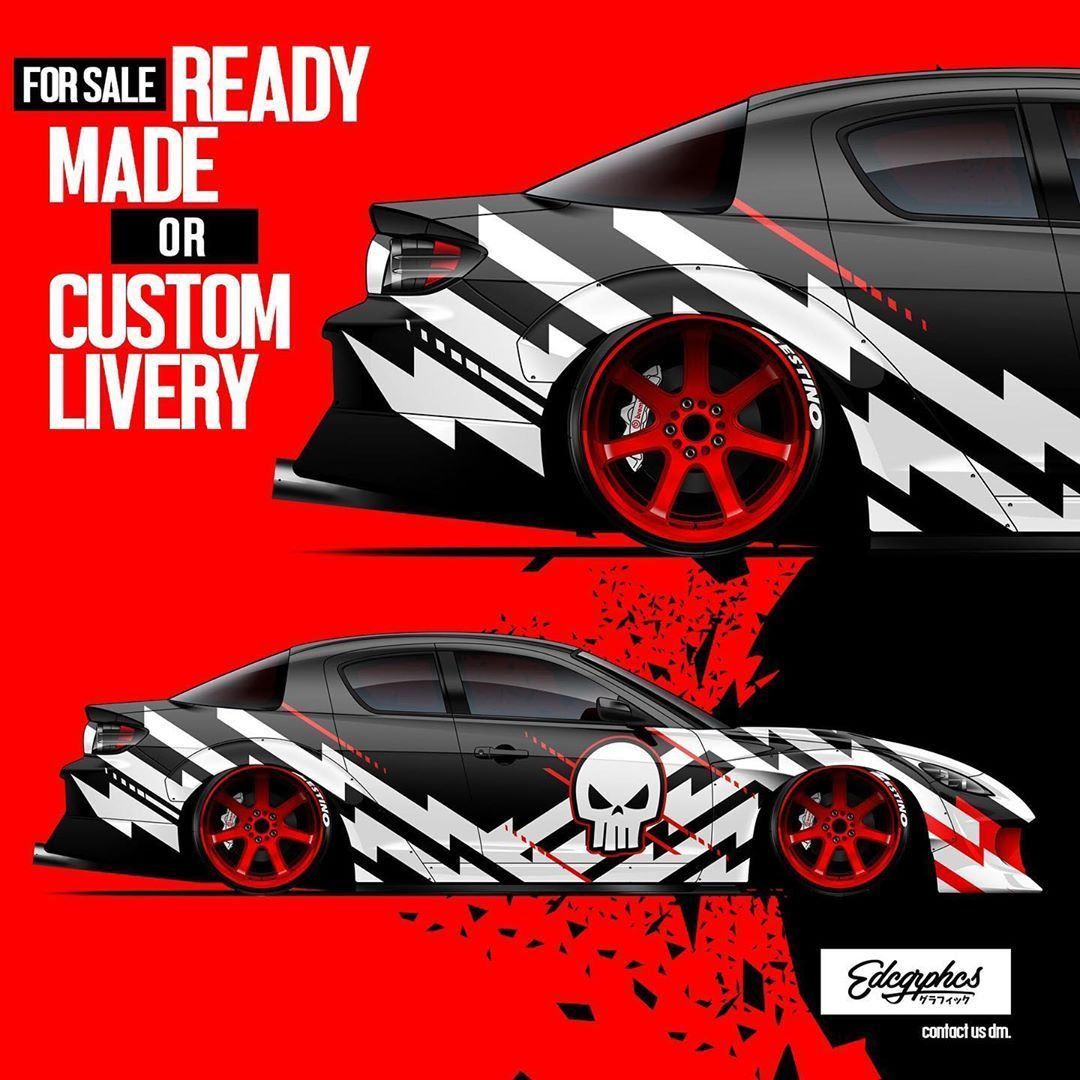 Custom Or Ready Made Livery Designs Contact Us Dm Edcgrphcs Forsale Render Jdm Mazda Rx8 Illustration Rotar Car Graphics Car Wrap Car Wrap De Racing Car Design Car Wrap Car Graphics [ 1080 x 1080 Pixel ]