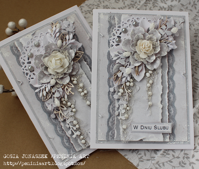 Card With Flowers Vintage Shabby Chic Romantic Silver