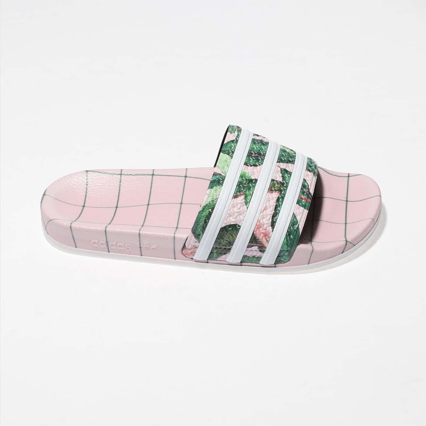 Damen Rosa adidas Adilette Farm Sandalen | schuh