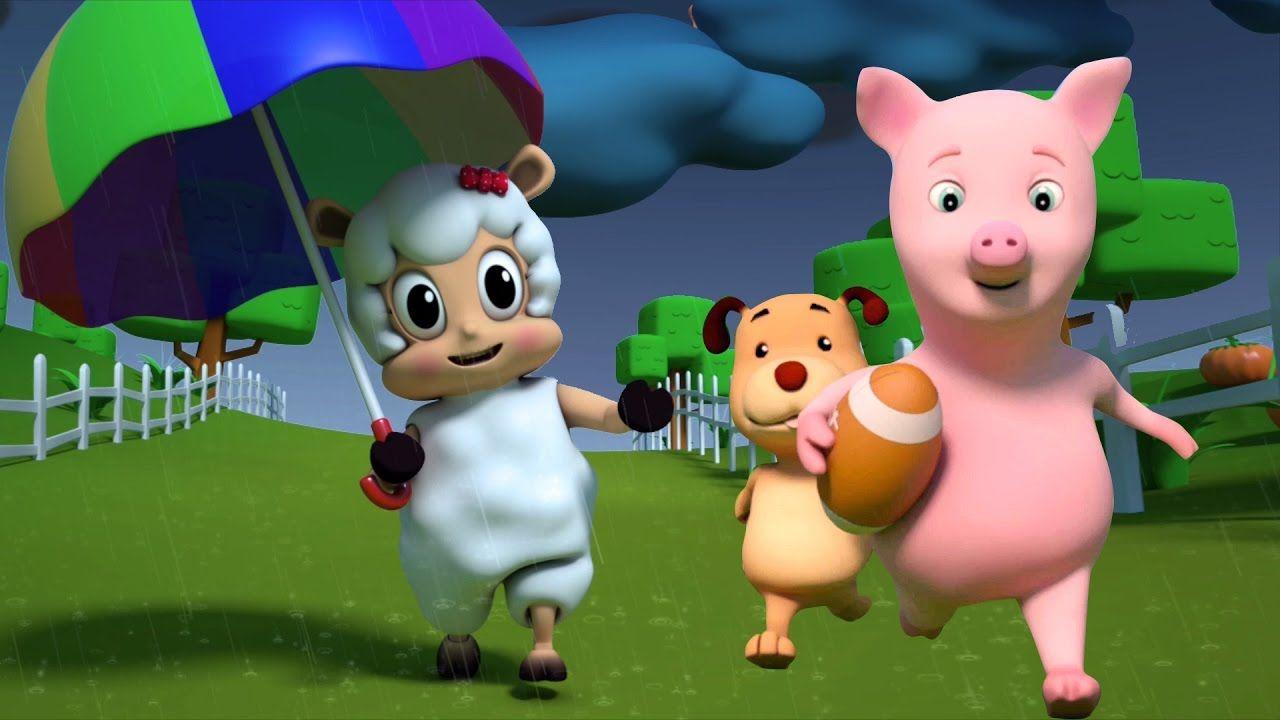 "Chuva da chuva parte | 3D Cantiga de ninar | crianças Canção | 3D Nurser...'Rain rain go away', nursery rhymes for children 'Learn to sing' in ""Portuguese"" from ""Farmees"". #Kidssongs #kidsvideos #nurseryrhymes #toddlers #fun #parenting #kidsvideos  #nurseryrhymes"