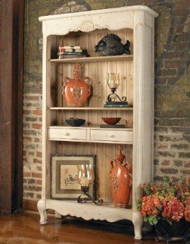 Pin By Lori Skertich Stephany On Dining Rooms Shabby Chic Bookcase Furniture Decor Country Style Decor