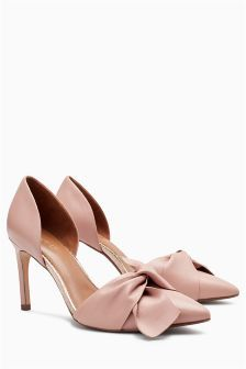 Leather Bow Two Part Courts (976988) | £45 | Wimbledon Wardrobe ...