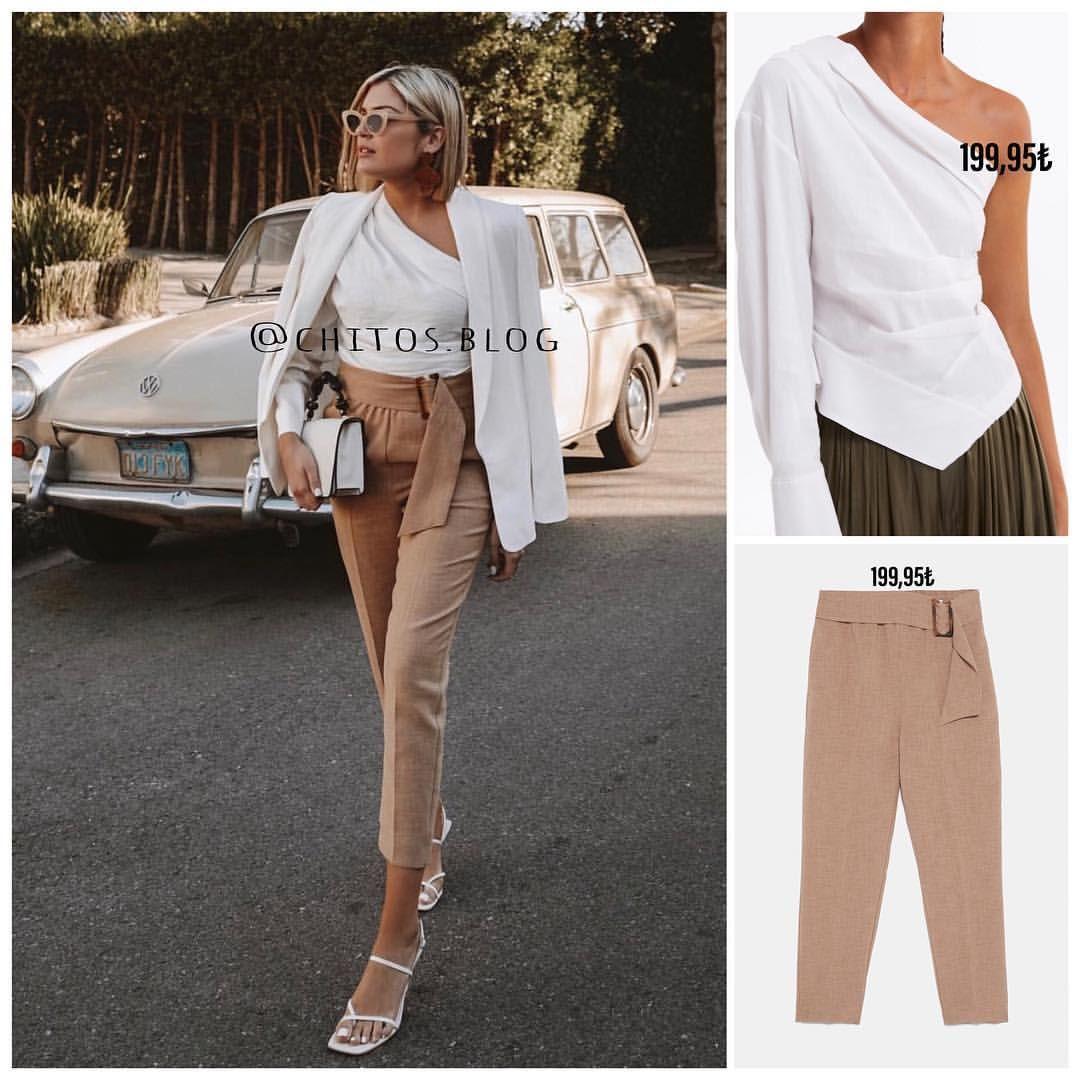 Hm Pantolonu Ile Sik Bir Kombin Yaratabilirsiniz Khaki Pants Pants Fashion